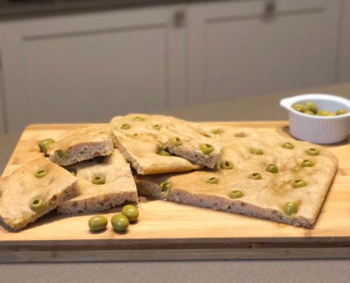 focaccia-olive