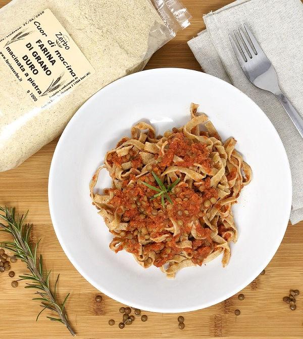 tagliatelle-ragù-lenticchie